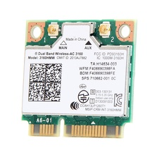 SSEA New WiFi Bluetooth 4.0 Wireless card for Intel Dual Band Wireless AC 3160 3160HMW half Mini PCIe 433M for HP 710662-001