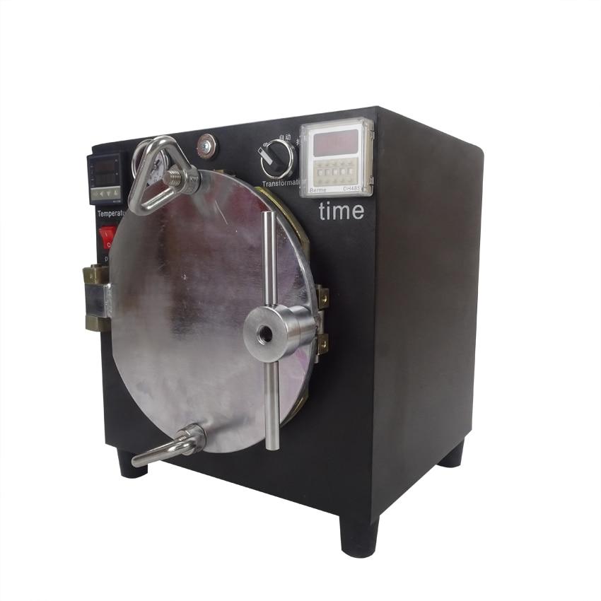 NEW Black Mini High Pressure Autoclave OCA Adhesive Sticker LCD Bubble Remove Machine for Glass Refurbishment