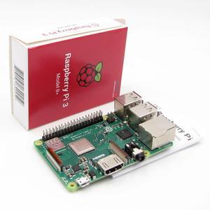 Image 1 - 2018 חדש מקורי פטל Pi 3 דגם B + בתוספת 64 קצת BCM2837B0 1 GB SDRAM WiFi 2.4/ 5.0 GHz Bluetooth PoE Ethernet PI 3B + PI3 B + בתוספת