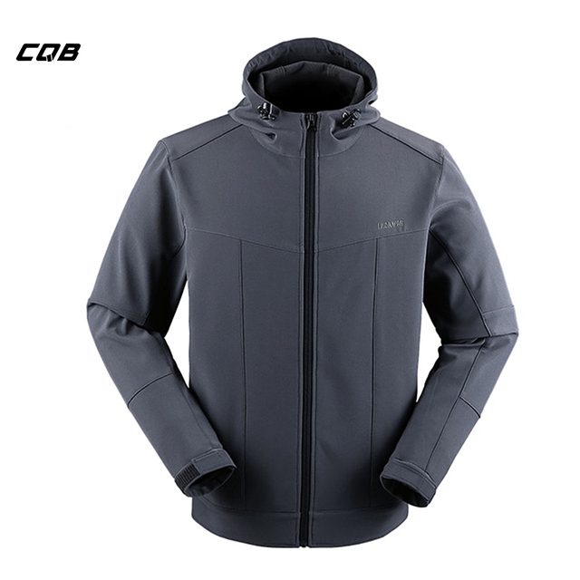 3a79f3fa43654 CQB Outdoor Sports Tactical Men's Camping Softshell Jacket Water Repellent Thermal  Hunting Clothes for Hiking Thicken Hooded