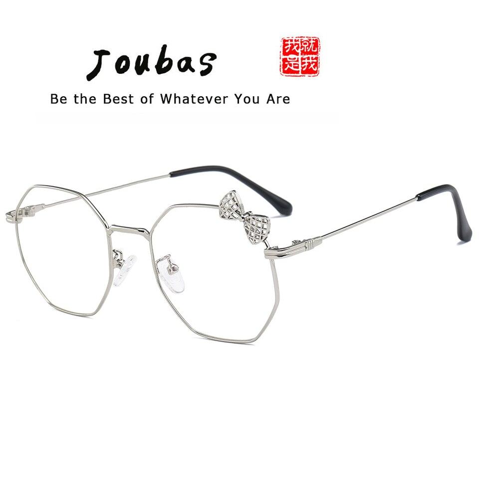 Joubas New Metal Cute Glasses Frame Women Girls Korean Lovely Plain Spectacles Bow Fashion Clear Lens Eyewear Brand Designer 61 Women S Sunglasses Aliexpress
