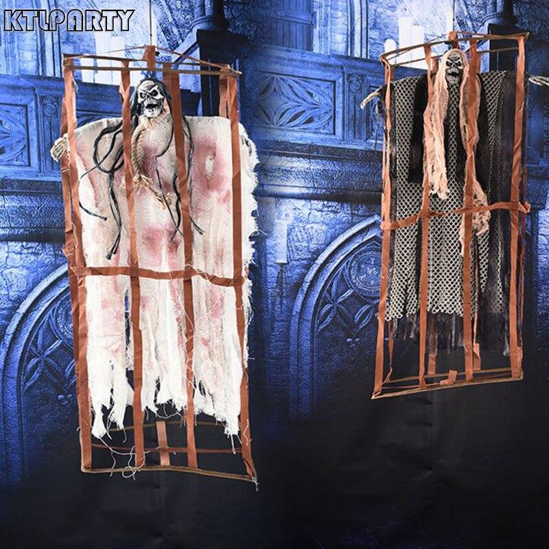 Halloween électrique horreur crâne suspendus fantômes halloween horreur décoration porp ornements pendentif pour fête et bar