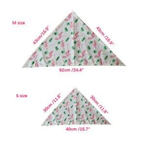 Image 3 - Bavoir pour animaux de compagnie, en coton, 50/100 pièces, Bandana, écharpe pour petits et grands chiens, motif flamand, pour chiots, accessoires dété, fournitures pour chiens