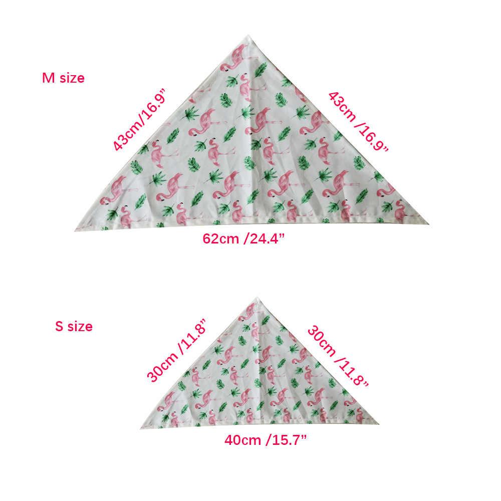 Nuovo 50/100pcs Bandana per Cani Piccolo Cane di Grandi Dimensioni Bavaglini Sciarpa Fazzoletto di Cotone Flamingo Animale Domestico del Cucciolo Del Cane di Estate Accessori forniture Per animali da compagnia