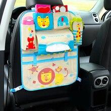 Водостойкая сумка для хранения сидений Универсальный мультфильм детские Колясочный Органайзер младенческой автомобиль подвесная Корзина Аксессуары для колясок