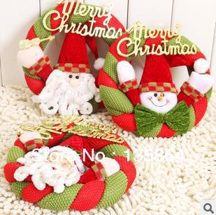 wholesale santa claus snowman door hanging decorations christmas gifts christmas wreath exquisite ornaments showcase stores - Christmas Wreath Decorations Wholesale