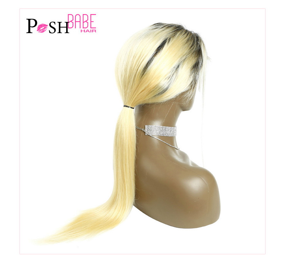Blonde Lace Front Human Hair Wig (17)