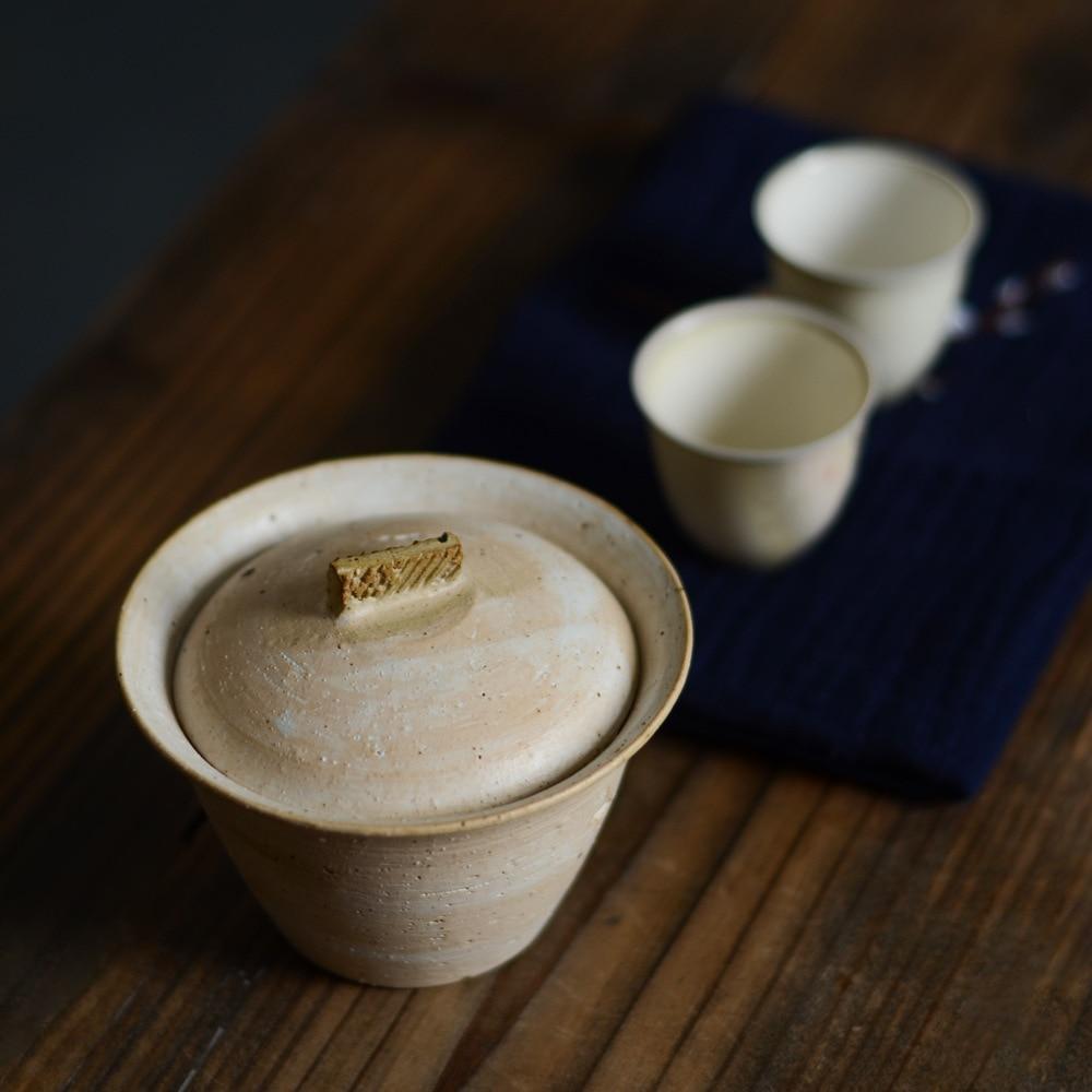 Jingdezhen cerâmica tigela grossa cerâmica em pó chumbo tigela grama cinza esmalte tigela neve caminhada série três única tigela mão grab pot - 3