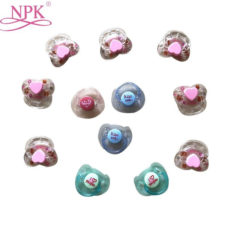 NPK Wholesale Good Price Reborn Doll Supplies Dummy Magnetic Pacifier For Reborn Baby Dolls Bebes Reborn Accessories