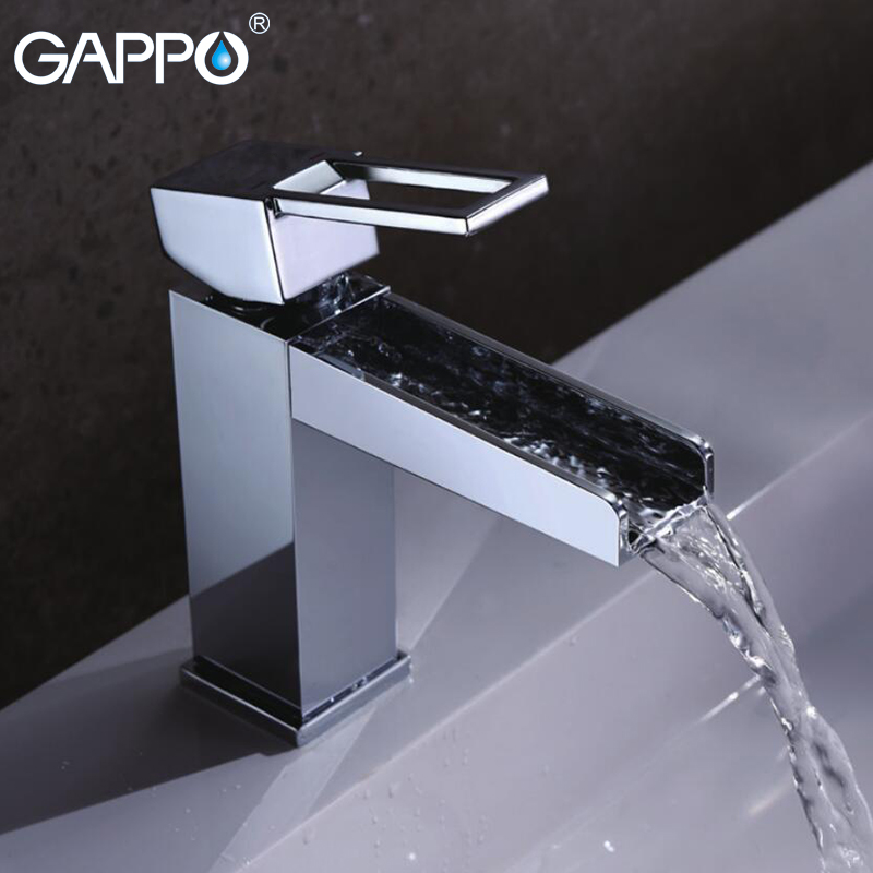 GAPPO Basin Faucet basin sink water taps chrome basin mixer tap waterfall faucet crane bathroom water tap mixer armatur bathroom basin faucet thermostatic bathroom crane water tap mixer with hand shower