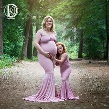 Удобные хлопковые длинные платья don & judy для мамы и дочери