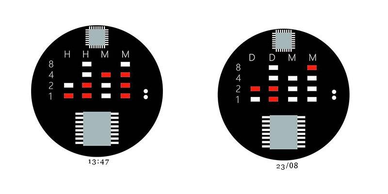 Binary Watch with LED display 7