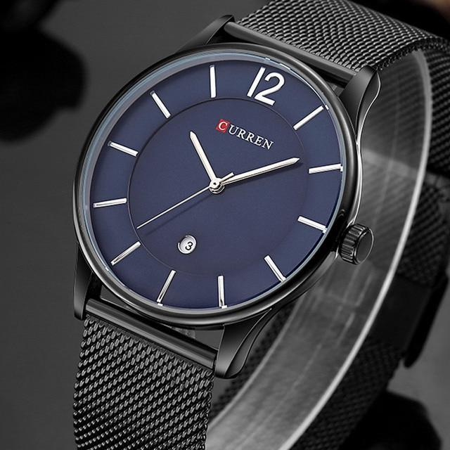 d08d8e91501 Homens Relógios Top Marca de Luxo Data 30 m À Prova D  Água Ultra Fino