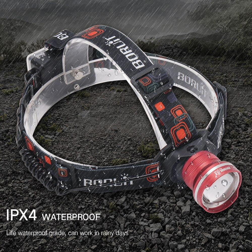 700 pcs T6 LED Phare 3-Mode Zoomable de Phare Étanche Torche Camping Frontale Lanterne Chasse lampe de Poche