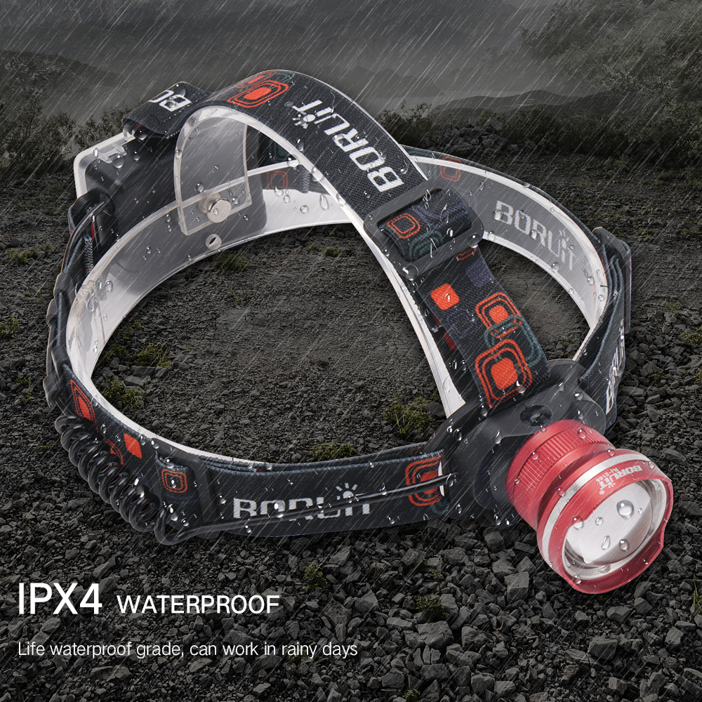 700pcs T6 LED Headlight 3 Mode Zoomable Headlamp Waterproof Head Torch Camping Frontal Lantern Hunting Flashlight|Headlamps| |  - title=