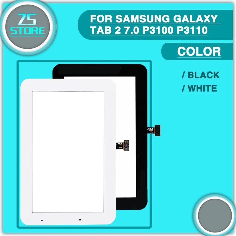 Nouveau P3100 P3110 Écran Tactile Pour Samsung Galaxy Tab 2 7.0 P3100 P3110 écran Tactile Panneau Numériseur Capteur En Verre Lentille