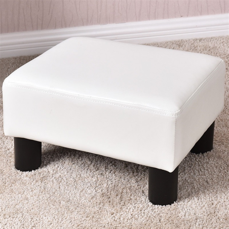 Sensational Us 36 64 45 Off Small Ottoman Footrest Pu Leather Footstool Rectangular Seat Stool Portable White Red Modern Home Sofa Chair In Stools Ottomans Machost Co Dining Chair Design Ideas Machostcouk