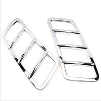 2pcs ABS Chrome Car Styling Car Front Hood Cover Bonnet Sticker For Mercedes Benz ML W166