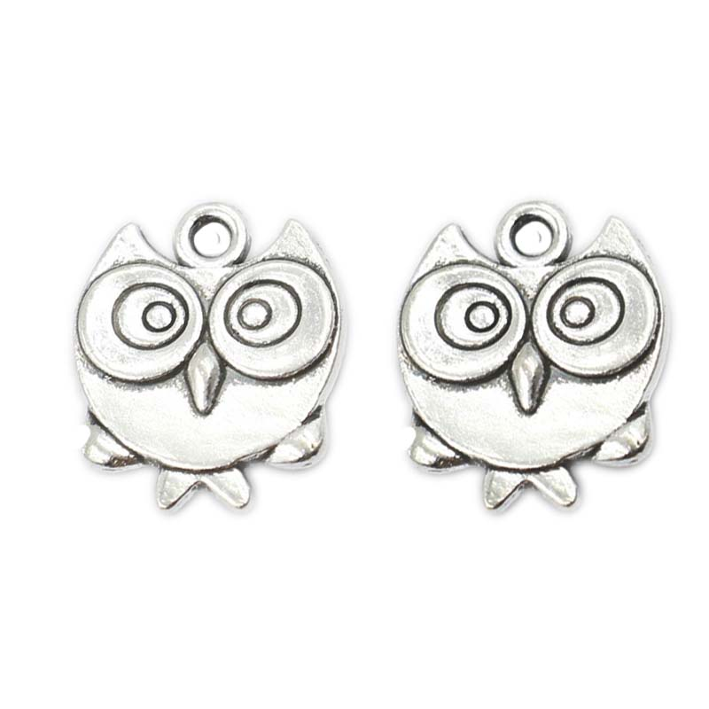 u246520pcs tibetan silver plated plated bird owl charms