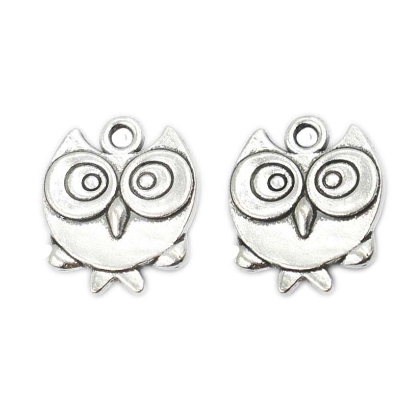 u246520pcs tibetan silver plated plated bird owl charms pendants for  u15d1 bracelet bracelet necklace