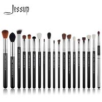 Jessup brushes 19pcs Black/Silver Makeup Brushes Set Cosmetic tools Beauty Make up Brush Eyeliner Concealer Lip Pencil