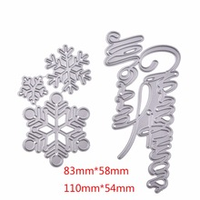 Snowflake Cutting Dies Stencil DIY Scrapbooking Embossing Album Paper Card Craft Metal Christmas