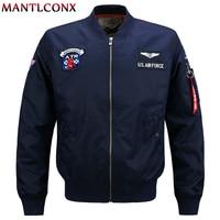 MANTLCONX 2019 Spring New Mens Bomber Jacket Male Casual Outwear Flight Men Jacket Pilot Coat Men's Clothing Plus Size 5XL 6XL