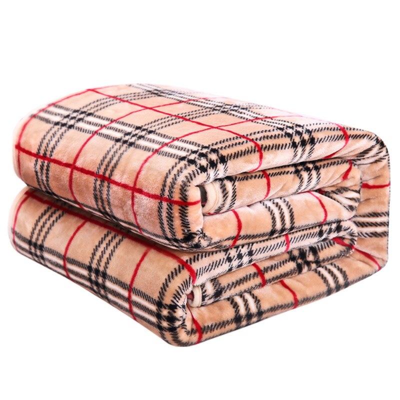 Eskimo Plaid Blanket Coral Fleece Fabric Blanket Travel
