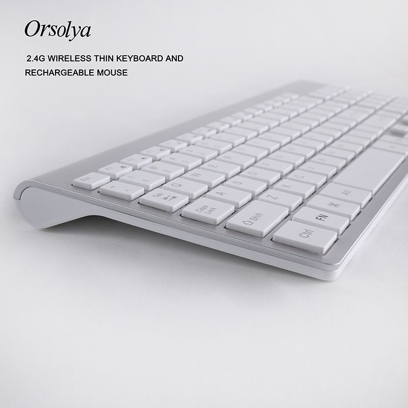 Image 4 - 2.4G Wireless Thin Keyboard and Rechargeable Mouse Combo English/Russian letters Keyboard set Silent key For Computer laptop PCKeyboard Mouse Combos   - AliExpress
