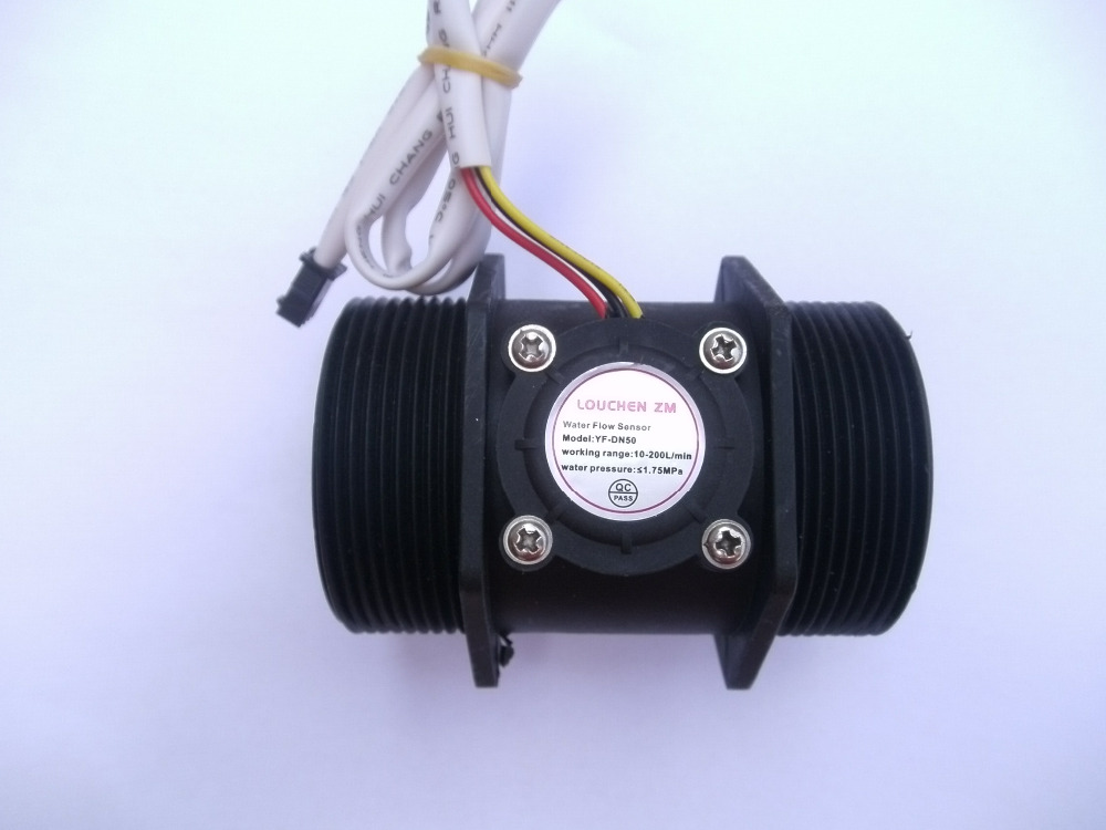 G 2 inch Water Flow Flowmeter Counter Hall Sensor Switch Meter 10-200L/min