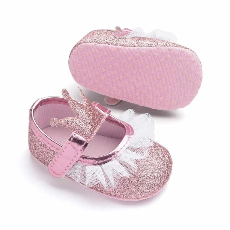 เด็กทารกอ่อนด้านล่างเด็กวัยหัดเดินรองเท้าเจ้าหญิงรองเท้า 2018 รองเท้าเด็กใหม่ทารกแรกเกิดน่ารัก Non - slip Prewalker 0-18 M Y13