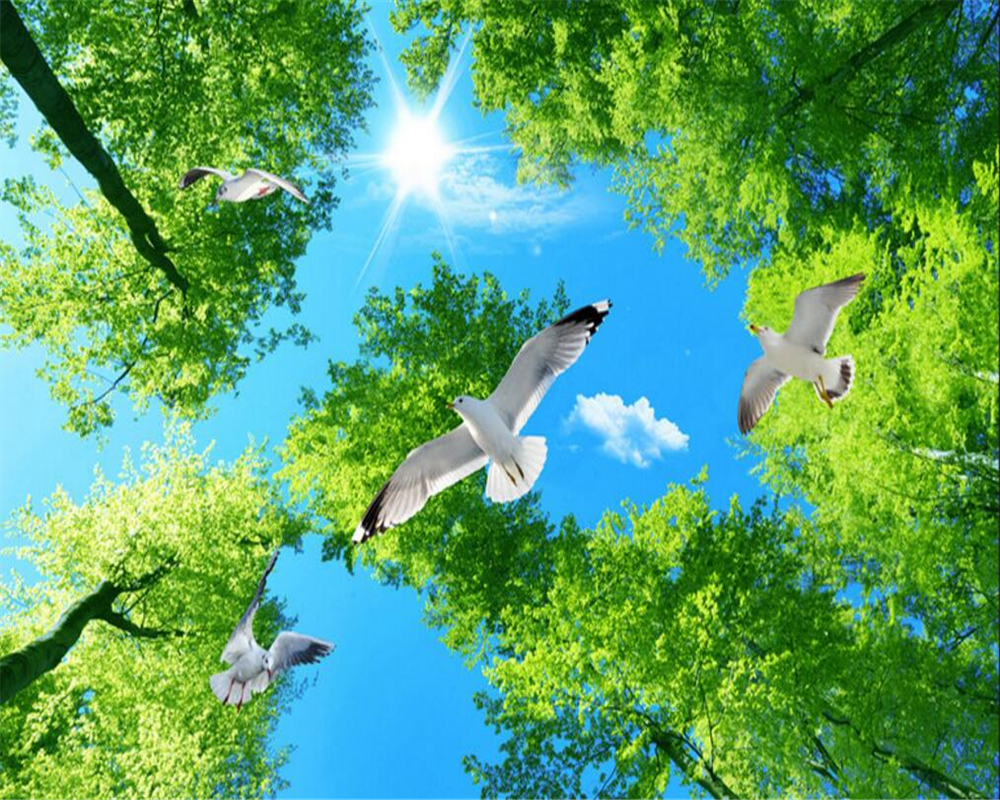 Cool Wallpaper High Quality Forest - Beibehang-High-quality-3D-wallpaper-fantasy-green-forest-sky-pigeon-top-natural-view-living-room-ceiling  You Should Have_82766.jpg