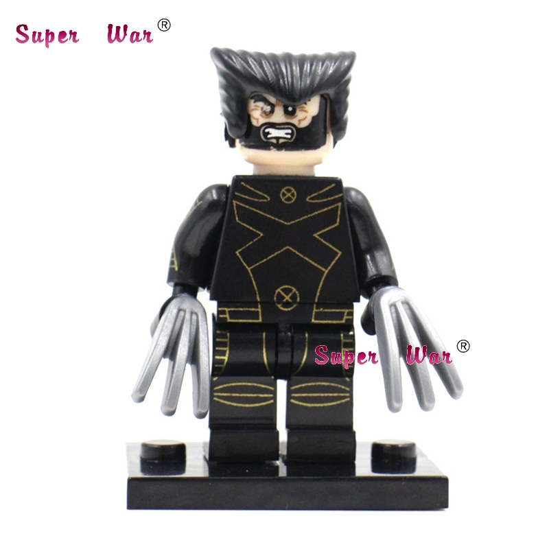 1PCS star wars superhero marvel avengers Wolverine movie building blocks action set model bricks toys for children