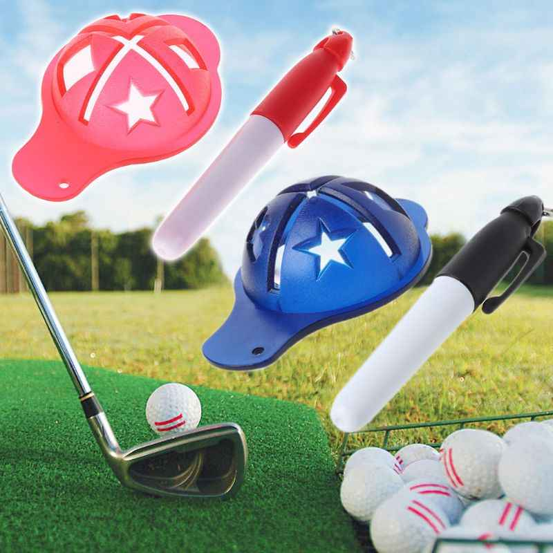 גולף כדור אוניית סמן ציור עט תבנית יישור סימן סימון להרים כלים