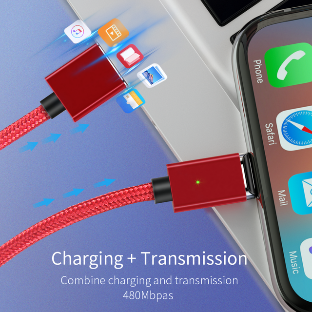 Essager Magnetic Micro USB Cable For iPhone Samsung Fast Charging Data Wire Cord Magnet Charger USB Type C 3m Mobile Phone Cable 4