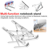 Height Adjustable Laptop Stand Aluminum Folding Portable Desktop Ventilation Cooling Stand for MacBook Pro Air Surface