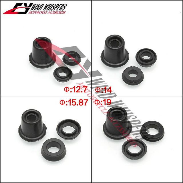Motorcycle universal Clutch and brake master cylinder Oil seal ring ...