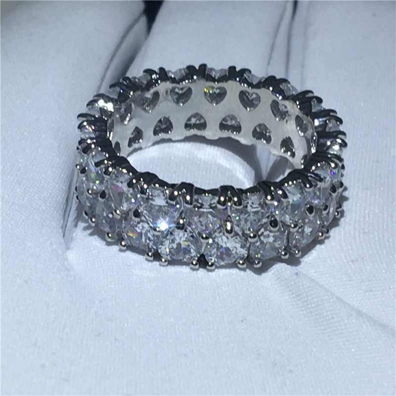 .925 Silver 4 Band Turkish Harem Ring 32 Gems in 4 Colors in a Checker Pattern