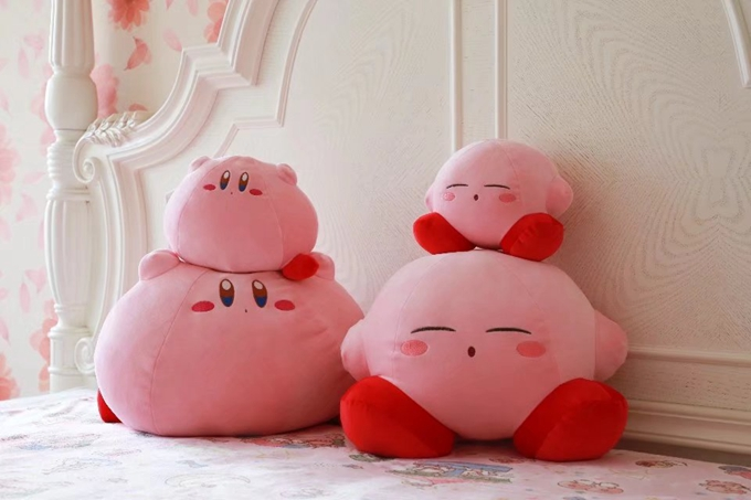 Kirby Super Star Plush Toy, Pillow, Eye Patch, Slipper, Key Chain, and Bag  2