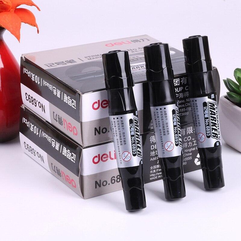 10pcs/box big head Mark pen capable not fade oily waterproof marker pen marks Logistics