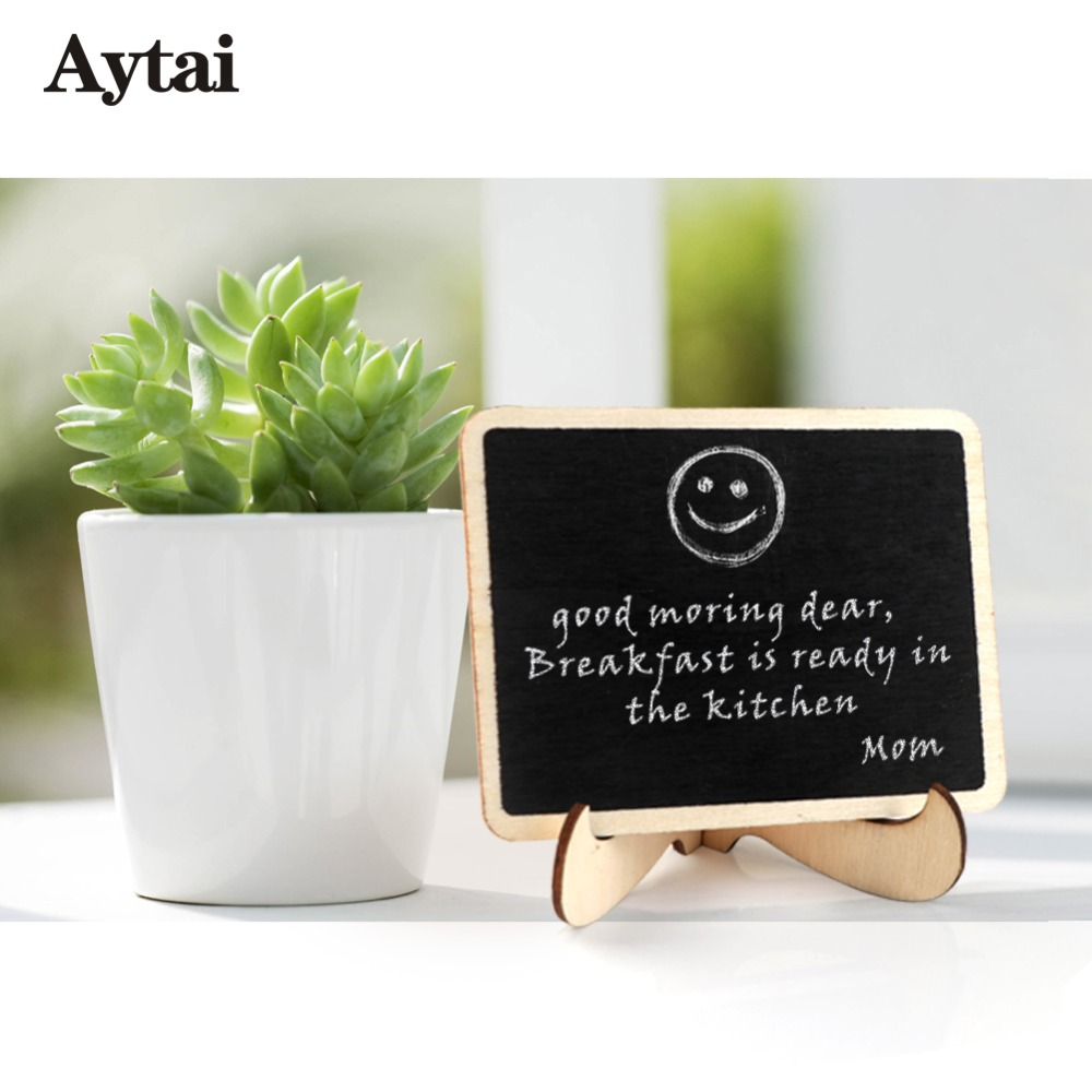 Aytai 10pcs Wedding Chalkboard Place Cards Table Numbers Wedding Party Direction Signs Wooden Mini Blackboard Chalkboard