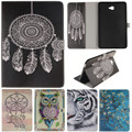 Cute Cartoon Owl Tiger Lion Girl Tree Stand Flip Leather Case For Samsung Galaxy Tab A A6 10.1 2016 T585 T580 T580N Tablet Cover