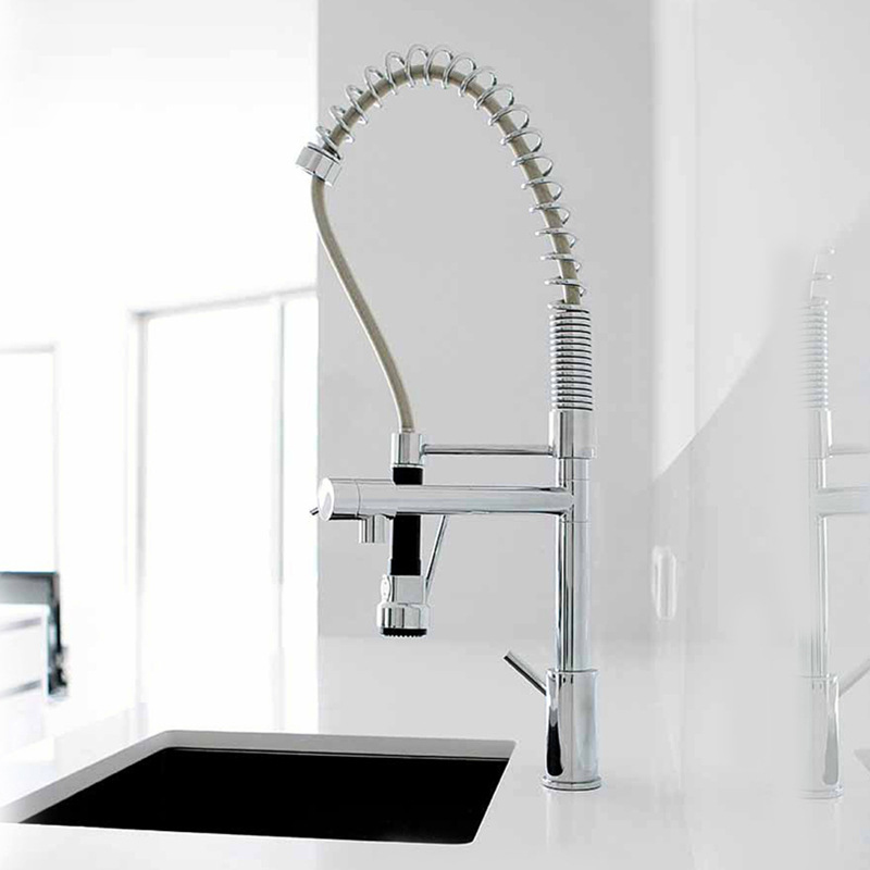 High Quality 2 Water Types Spray Hot Cold Water Mixer Tap Chrome ...