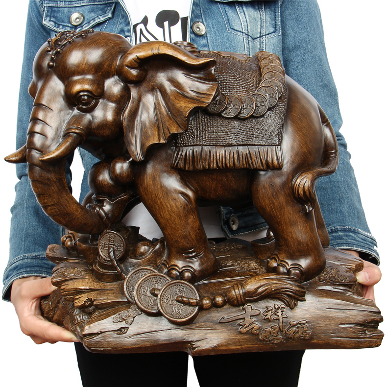 LARGE # 2019 HOME Shop lobby decoration Business Money Drawing Good luck Propitious Elephant FENG SHUI Sculpture art StatueLARGE # 2019 HOME Shop lobby decoration Business Money Drawing Good luck Propitious Elephant FENG SHUI Sculpture art Statue