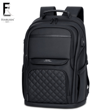 FRN Business Mens Backpack Black USB Charging Anti Theft Laptop 15.6 Inch Male Large Capacity Fashion Travel Backpacks
