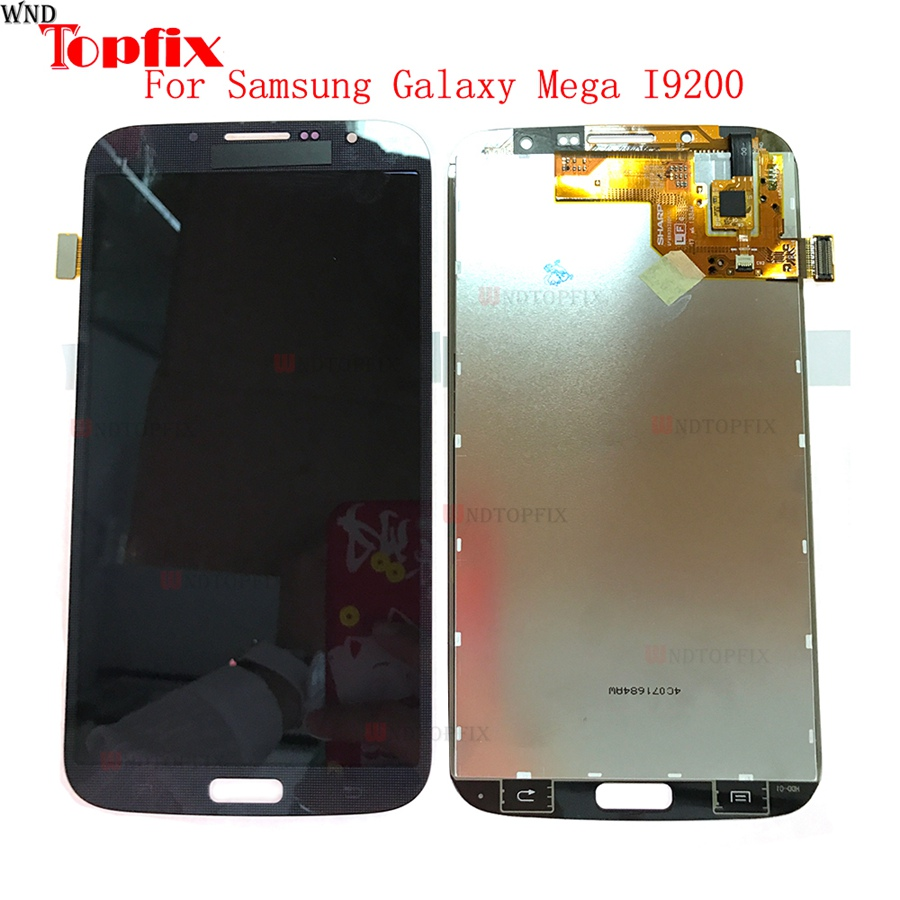 LCD Display Touch Screen Digitizer With Frame For Samsung Galaxy Mega I9200 I9205 6 3 100