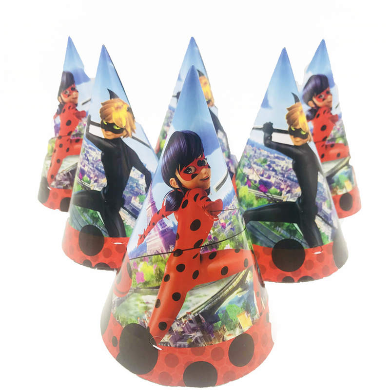 Dropwow Miraculous Ladybug Kids Happy Birthday Party Decoration