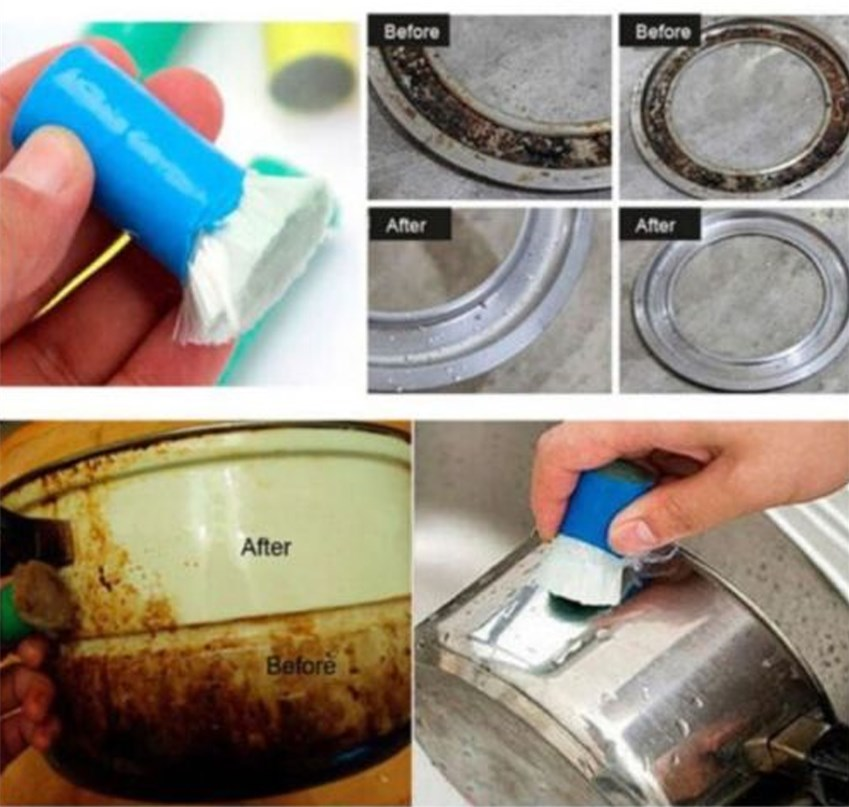 Hot Hot Magic Stainless Steel Rust Remover Cleaning Detergent Stick Metal Wash Brush