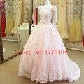 Vestidos De graduacion largos 2015 rosa Vestido De baile princesa do baile De finalistas vestidos formais vestidos De Festa Plus Size Handwork Vestido De Festa
