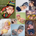 So Lovely!! Soft Cute Newborn Crochet Outfits Baby Hat Baby Cap Newborn Photography Props For 0-4 Month Newborn Knitted Garments
